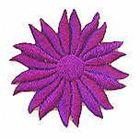 Margeriten-Applikationen Durchmesser 5cm AA106-16 Farbe: Lila