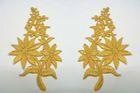1 Paar Blumenapplikationen AF74-2 Farbe: Gold
