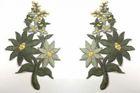 1 Paar Blumenapplikationen AF74-8 Farbe: olive