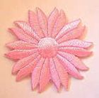 Margeriten-Applikationen Durchmesser 5cm AA106-19 Farbe: Rosa