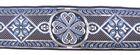 10m Mittelalter Borte Webband 50mm breit Farbe: Blau-Silber