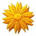 Margeriten-Applikationen Durchmesser 5cm AA106-22 Farbe: Sonnengelb