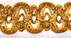 16,40m leonische Borte 20mm breit Farbe: Lurexgold