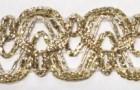 16,40m leonische Borte 20mm breit Farbe: helles Lurexgold