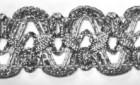 16,40m leonische Borte 20mm breit Farbe: Lurexsilber