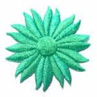 Margeriten-Applikationen Durchmesser 5cm AA106-25 Farbe: Mint