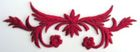 historische Applikation Sticker Patch Tribal Farbe: Rotviolett