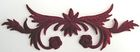 historische Applikation Sticker Patch Tribal Farbe: Bordeaux