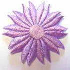 Margeriten-Applikationen Durchmesser 5cm AA106-27 Farbe: Violett hell
