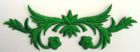 historische Applikation Sticker Patch Tribal Farbe: Grün