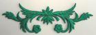 historische Applikation Sticker Patch Tribal Farbe: Nachtgrün