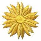 Margeriten-Applikationen Durchmesser 5cm AA106-30 Farbe: Gold-Ocker