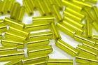 100 Gramm Glasstifte 6x1mm A50-3 Farbe: Gelb-Grün