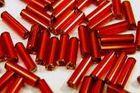 100 Gramm Glasstifte 6x1mm A50-7 Farbe: Rot
