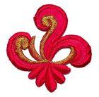 Applikation Sticker Patch Tribal 7,7 x 7,7cm Farbe: Fuchsia