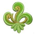 Applikation Sticker Patch Tribal 7,7 x 7,7cm Farbe: Hellgrün