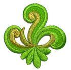 Applikation Sticker Patch Tribal 7,7 x 7,7cm Farbe: Grün