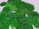 18 Gramm Pailletten-Geld Durchmesser 29mm AF110-5 Farbe: Green