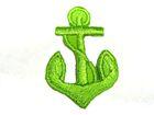 Applikation Anker Nautik 2,2 x 3,4cm Farbe: Hellgrün