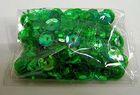 100 Gramm Farbe: Pailletten Ø 6mm Farbe: grün-transparent
