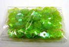 100 Gramm Farbe: Pailletten Ø 6mm Farbe: Laubgrün-Transparent