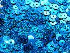 12 Gramm Pailletten 6mm plan Farbe: Royalblau-Laser