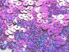 12 Gramm Pailletten 6mm plan Farbe: Light-Purple-Laser