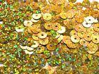 12 Gramm Pailletten 6mm plan Farbe: Gold-Laser