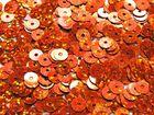 12 Gramm Pailletten 6mm plan Farbe: Orange-Laser