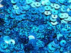 100 Gramm Pailletten 6mm plan Farbe: Royalblau-Laser