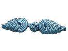 Posamentenverschlüsse Mittelalter Farbe: Stahlblau