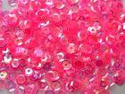 100 Gramm Pailletten Farbe: Pink-Transparent