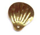 100 Gramm Muscheln groß Farbe: altgold