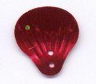 100 Gramm Muscheln groß Farbe: rotmetallic