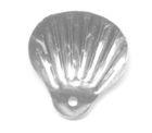 100 Gramm Muscheln groß Farbe: Silber