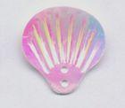 100 Gramm Muscheln groß Farbe: weiss-rosa