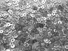 50 Gramm Pailletten 4mm Laser AA419-2 Farbe: Silber