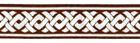 10m Mittelalter Borte Webband 35mm breit Farbe: braun-silber
