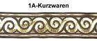 1m Mittelalter Borte Webband 70mm breit Farbe: Mittelbraun-Gold