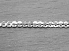 90m (1 Rolle) Paillettenband 3mm AA451-1 Farbe: Silber