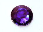 250 Polyacrylsteine Rund 16mm AA209-6 Farbe: Dark Purple