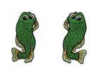 1 Paar Applikationen Fische AA457-18 Farbe: Grün