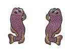1 Paar Applikationen Fische AA457-10 Farbe: Magenta