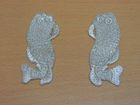 1 Paar Applikationen Fische AA457-31 Farbe: Silber