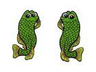 1 Paar Applikationen Fische AA457-16 Farbe: Neongrün