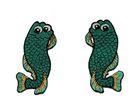 1 Paar Applikationen Fische AA457-19 Farbe: Meergrün