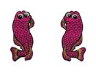 1 Paar Applikationen Fische AA457-5 Farbe: Pink