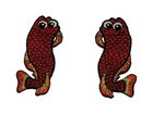 1 Paar Applikationen Fische AA457-23 Farbe: Rotbraun