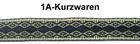 10m MittelalterBorte Webband 12mm breit Farbe: Dunkelblau-Beige
