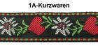 10m TrachtenBorte Webband 20mm breit Farbe: Rot-Grün-Weiss-Schwarz
